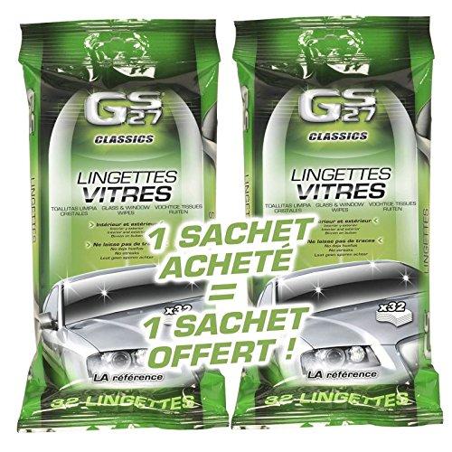 GS27 - Lot de 2 Lingettes Vitres