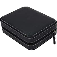 MegaDeal Men's/Women's Leather Watch Box Organiser Case (4-Slot-Zipper)