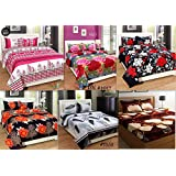 Rampart Combo Pack Of King Size Double Bedsheet,Set Of 6 Bedsheet And 12 Pillow Covers