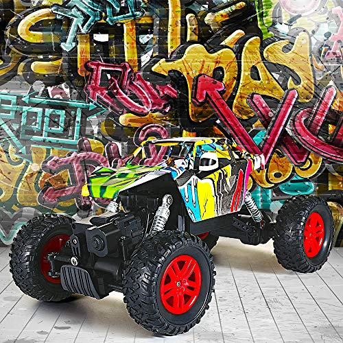 RC Auto kaufen Monstertruck Bild 4: GoStock Ferngesteuertes Auto Elektro Offroad RC Lastwagen 1:18 2,4 Ghz 4WD Off Road Monstertruck Rock Crawler*