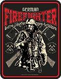RAHMENLOS Original Blechschild für die Feuerwehr: German Firefighter
