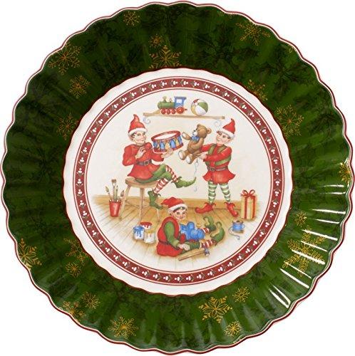 Villeroy & Boch 1483323648 Toy's Grande Coupelle Toy's Fantasy Motif Elfes/Arts de la Table de Noël Porcelaine Vert Porcelaine 27 x 23,5 x 5 cm