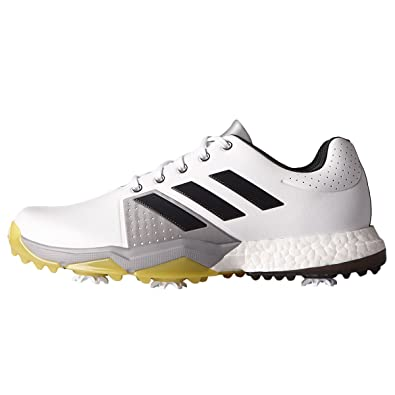 new product ba9d3 124f9 adidas Adipower Boost 3, Herren Golf , weiß - WhiteCarbonVivid Yellow