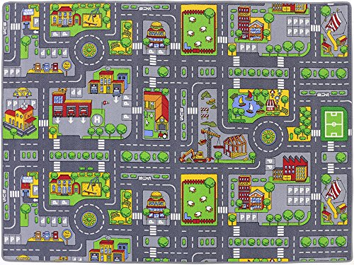 Stadt Mix HEVO® Strassen Spielteppich | Kinderteppich 145x200 cm - 4