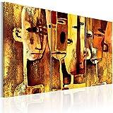 murando handgemalte Bilder Triptychon 135x90cm Gemälde 3 tlg braun beige 41616