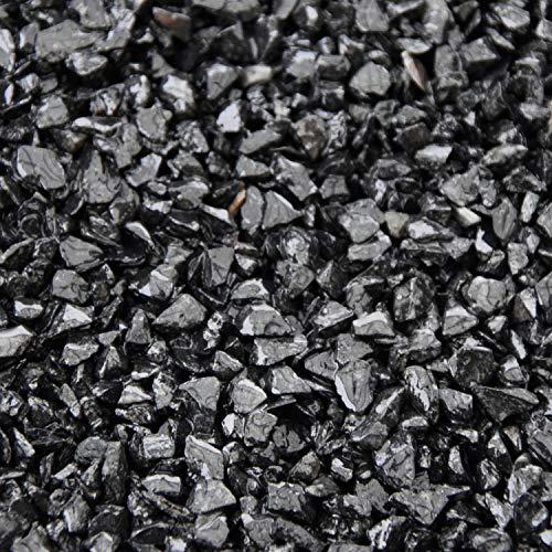 BTT-ST Steinteppich aus Marmorkies Nero Ebano und Epoxidharz Bindemittel für 2,4m² Marmorstein Marmorkiesel Steinboden Bodenbeschichtung