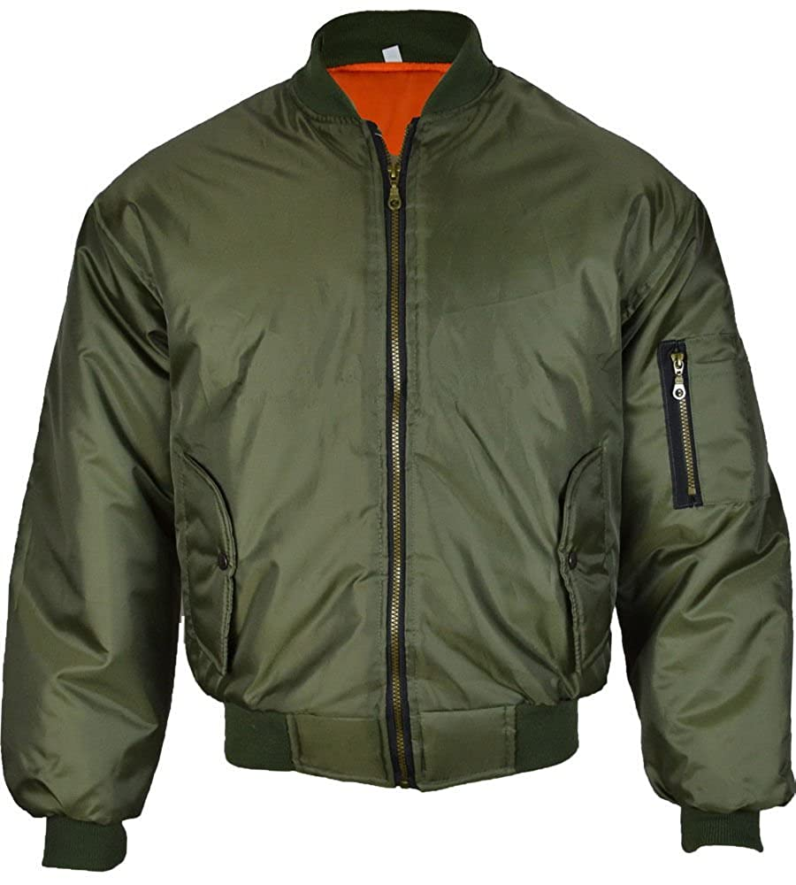 Mens Bomber Jacket. The men's bomber jacket first got its start during World War I. During that time, airplanes had open-air cockpits for the pilot and co-pilot. These jackets were first issued to members of the Royal Marine Corps to help them brave the bitter cold that was a constant threat at such high altitudes.