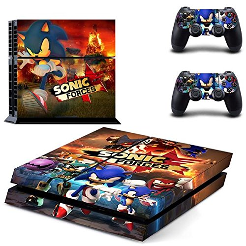 Playstation 4 + 2 Controller Aufkleber Schutzfolie Set - Sonic Forces (3) /PS4 (Playstation 2-sonic)
