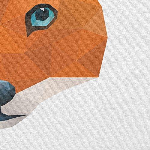 TEXLAB - Poly Mr. Fox - Herren Langarm T-Shirt Weiß