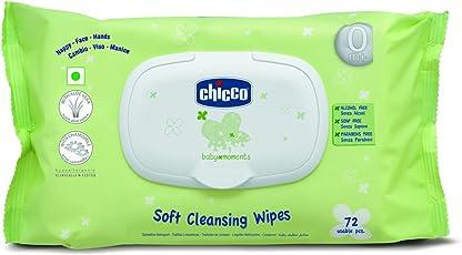 Chicco Wipes Fliptop (Pack of 72)