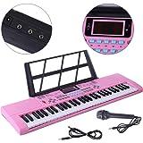 MRKE Piano Infantil con Microfono 61 Teclas Teclado Electronico Piano Organo Niños Juguete de Instrumentos Musicales Regalo p