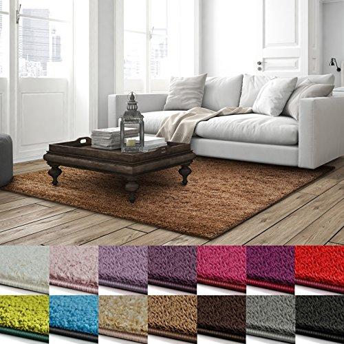 casa pura Shaggy Teppich Barcelona | weicher Hochflor Teppich für Wohnzimmer, Schlafzimmer, Kinderzimmer | GUT-Siegel + Blauer Engel Größen | 200x300 cm | Hellbraun