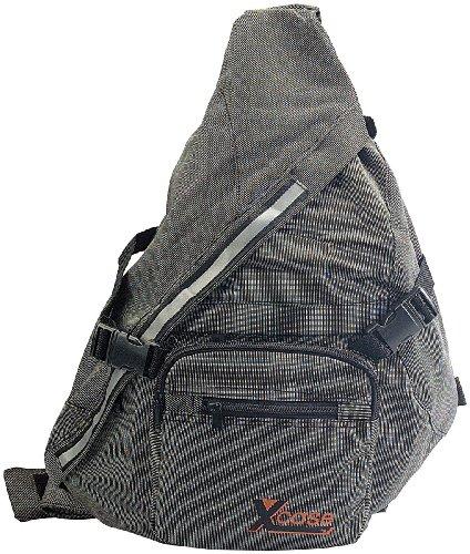 Xcase Schulterrucksack: Rucksack Z-Bag aus wasserabweisendem Gewebe, anthrazit (Cityrucksack)