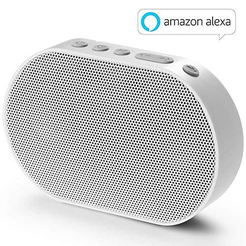 GGMM E2 Enceinte sans Fil Bluetooth WiFi Portable Mini Haut-Parleur Intelligent avec Alexa Airplay Multiroom Son Stéréo 10W Blanc