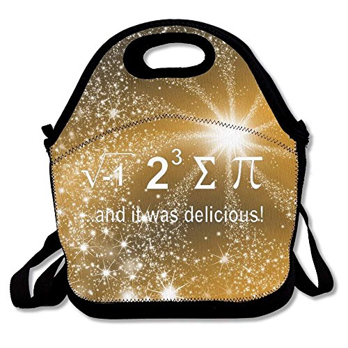Funny Nerdy Math Portable Lunch Box Tote Bag Rugged Lunchbox