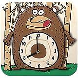 """Robotime AC205""""sterxy DIY Digital Kids/Dibujos Animados Oso"""" Reloj de pared de madera"""