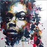 Poster 50 x 50 cm: Nina Simone : My Baby Just Cares for Me von Paul Paul Lovering Arts - Hochwertiger Kunstdruck, Kunstposter