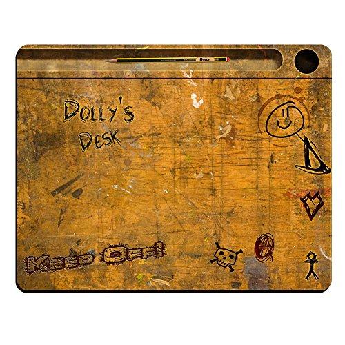 Dolly 's Schreibtisch-Vintage Schule Schreibtisch personalisierbar Premium Mauspad (5Dick). (Schreibtisch Dolly)