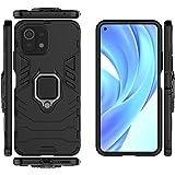 QiongNi Case for Xiaomi Mi 11 Lite Case Cover,Case for Xiaomi Mi 11 Lite 5G Case Cover,Magnetic Car Mount Bracket Shell Case