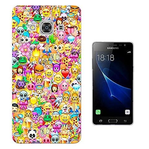 925 - Collage Multi Smiley Faces Emoji Design Samsung Galaxy J3 Pro 5.0
