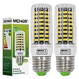 2X MENGS® E27 LED Lampe 11W AC 220-240V Warmweiß 3000K 80x5733 SMD Mit PC Mantel