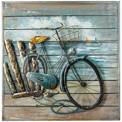 GILDE Gallery Bild Enjoy The Ride - aus Holz und Metall Handarbeit 80 x 80 cm -