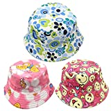 #6: Phenovo Kids Girls Boys Bucket Hat Beach Sun Summer Outdoor Cap #3