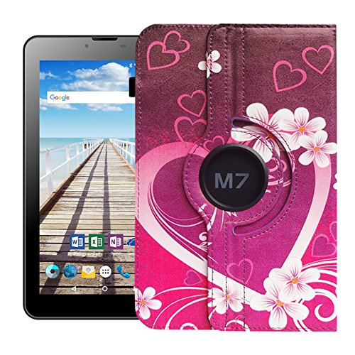 UC-Express Odys Sense 7 Plus 3G Tablet Hülle Tasche Schutzhülle Case Cover 360°, Farben:Motiv 2