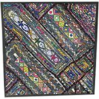 Mogul Interior Decorative Embroidered Colorful Wall Hanging Patchwork Sari