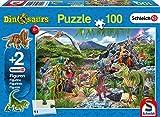 Schmidt Spiele Puzzle 56192, blau, Im Im Reich der Dinosaurier, 100 Teile