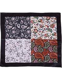Vibhavari Men's Pocket Square (4 Designs in 1 Pocket Square)
