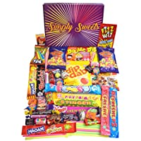 Simply Sweets retro sweet hamper gift box. Packed with the best retro sweet. A perfect present for Birthdays, Get Well Soon, Christmas. Packed in a fun stylish unique box, everybody will be sure to love this sweetie box.