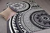 TrendLine Teppich Mandala Schwarz Creme in 4 Größen