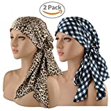 EINSKEY Turbantes para Mujer, 2PCs Anti-UV Pañuelos Cabeza para Cancer, Oncologicos, Perdida de...