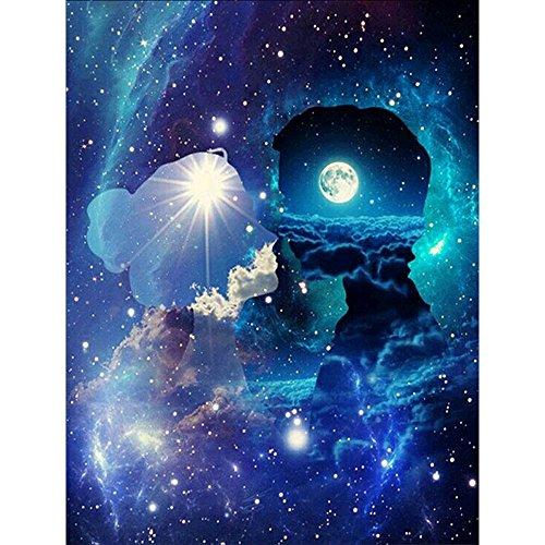 Trada Diamant Malerei, 5D Stickerei Gemälde Strass eingefügt DIY Diamant Malerei Kreuzstich Arts Craft für Wohnzimmerwandaufkleber Dekor Kunsthandwerk Stich Zuhause Dekor (Mehrfarbig) -