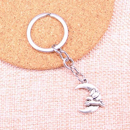 JJCDKL Mond laufendes Kaninchen Keychain für Liebhaber-Legierungs-Art- und Weiseschmuckstück-Ring für Auto-Schlüsselkette das Neujahrsgeschenk