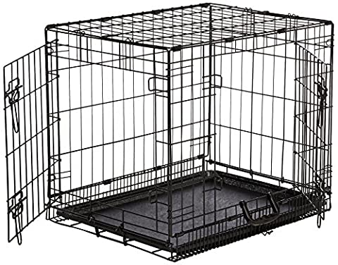 AmazonBasics Double-Door Folding Metal Dog Crate - Small