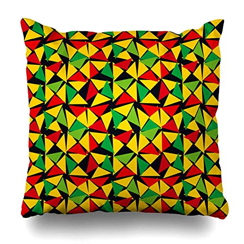 DEFFWB Throw Pillow Cover Pattern Classic Reggae Color Music Jamaica Yellow Abstract Green Bob Jamaican Marley Rasta Graphic Decorative Pillowcase Square Size Home Decor Cushion Case -