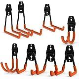 Ganchos dobles de acero para almacenamiento en el garaje CoolYeah, de gran resistencia para la organización de herramientas e