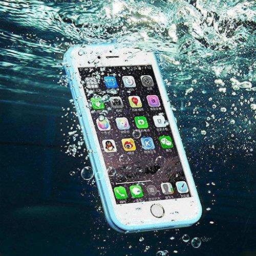 Wasserdicht iPhone 6S Plus Hülle, iPhone 6 Plus Waterproof Case, MOMDAD Full Body Beidseitiger 360 Schutzhülle für iPhone 6S Plus / 6 Plus Handyhülle Ultra Thin TPU Silikon Touchscreen Kratzfeste Stau Grün