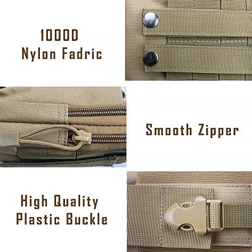 Multi sacchetto di sport, viaggi, escursioni, arrampicate, hip confezione contenente vari modelli per esterno (schwarz) Khaki