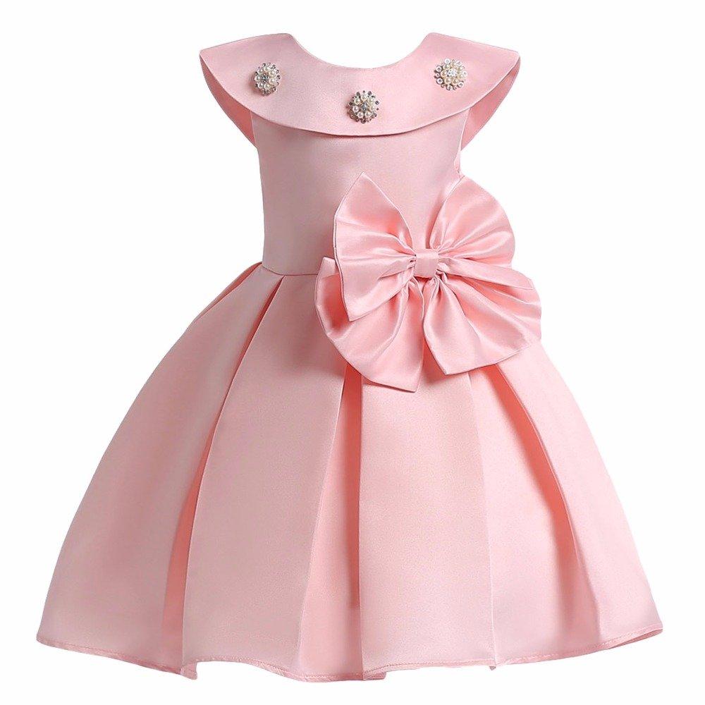 d683542ee SOFYANA Baby - Girl s Scuba Lycra Princess Birthday Party Wear Frock ...