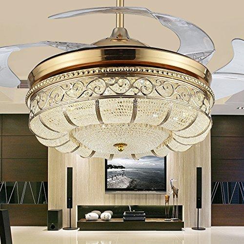 MOMO Personalisierte dekorative beleuchtung Europäischen Stil Retro Eisen Klinge, Licht Deckenventilator, einfache Mode Fan Lampe, Wohnzimmer Restaurant Deckenventilator Lampe,Wandsteuerung Kleine Klinge Deckenventilator