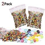 zesgood 2paquetes 30000X colores mezclados perlas de Gel de agua de cristal Agua Jelly Perla