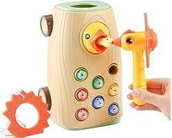 BBLIKE Juguetes Montessori educativos Juegos niños 2 3 4 años Bebes, 3 en 1 Juguetes Martillo Juego magneticos Desarrollo de
