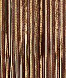 Türvorhang Fadenvorhang Braun/Beige 100x200cm PVC Vorhange Fliegenschutz 100% Made in Italia PVC Streifen IRIS
