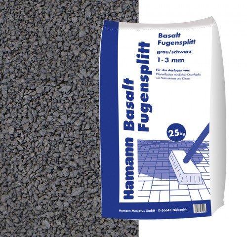 fugensplitt anthrazit Hamann Mercatus GmbH Basalt Fugensplitt 1-3 mm 25 kg Sack - zur Dekorativen, kreativen und individuellen Garten und Weggestaltung