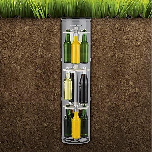 Flaschenkühler outdoor für Garten und Terrasse, Erdloch-Bier-Kühler, versenkbarer Getränkekühler ( einfach einbuddeln und immer kühle Getränke parat haben ) - 4