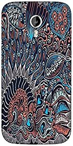 Snoogg abstract seamless texture with fish Designer Protective Back Case Cover For Micromax A116