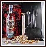 Geschenk Glenfiddich 15 Jahre Distillery Edition Whisky + Flaschenportionierer + 10 Edel Schokoladen von DreiMeister/DaJa + 4 Whisky Fudge, kostenloser Versand
